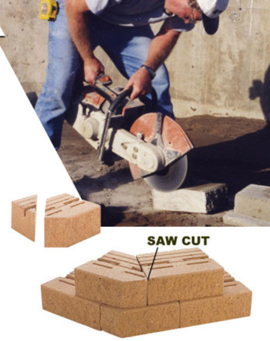 Retaining Wall Unit - saw cut